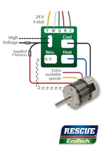 A New Upgrade for PSC Blower Motors!   Ferguson HVAC   Speed Psc Wiring Diagram With Taps      Ferguson HVAC